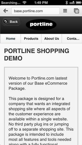 Mobile Site Homepage